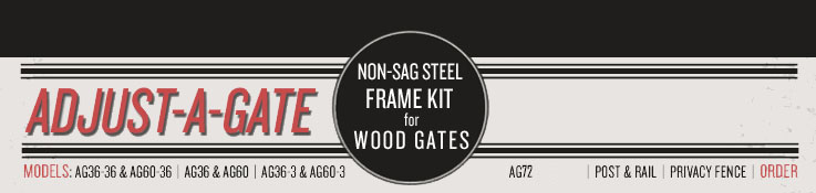 Adjust A Gate Non Sag Steel Frame Kit For Wood And Vinyl